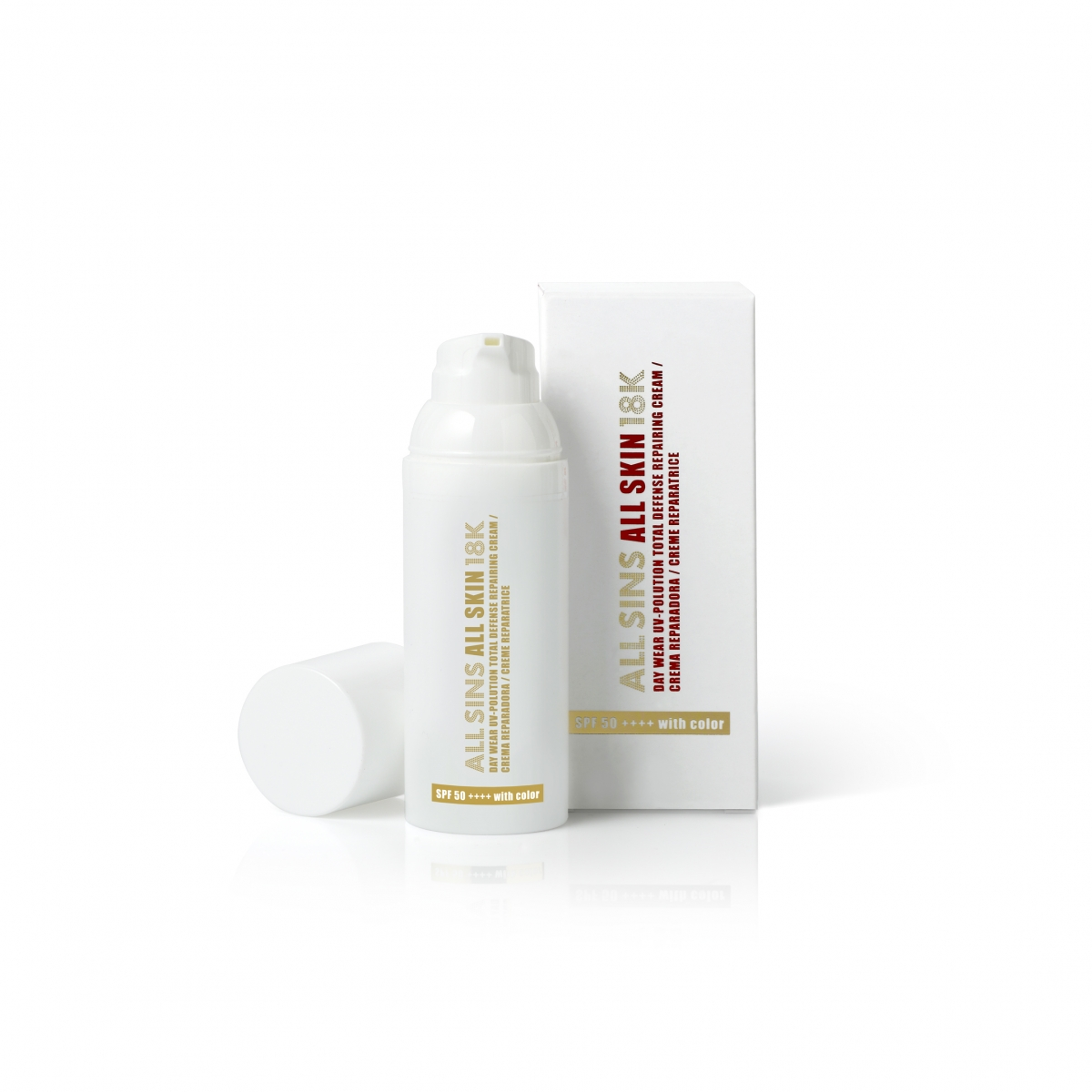DAY WEAR UV-POLLUTION TOTAL DEFENSE REPAIRING CREAM WITH COLOR SPF 50